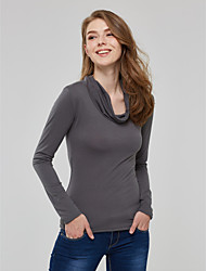 Women's Solid Blouse , Deep V Long Sleeve