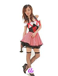 Roupa Lolita Clássica e Tradicional Lolita Cosplay Vestidos Lolita Cor Única Manga Curta Short / Mini Para