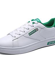 Herren Sneakers Frühjahr Herbst Komfort PU lässig weiß / grün schwarz weiß