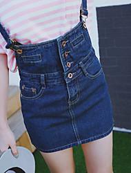Femme Taille Normale Au dessus des genoux Jupes,Trapèze Couleur Pleine