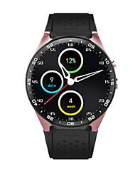 Hommes Smart Watch Quartz Silikon Bande Noir Rouge