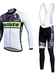Sports Cycling Jersey Women's / Men's / Unisex Long Sleeve BikeBreathable / Thermal / Warm / Quick Dry / Fleece Lining / Moisture