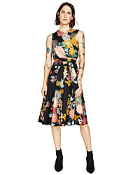 Women's Knee-length Skirts Swing Floral