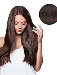 7 PC / set # 4 dunkelbrauner mokkabraun Clip in Haarverlängerungen 14inch 100% Menschenhaar 18inch