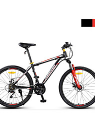 Mountain Bike Cycling 24 Speed 24 Inch Double Disc Brake Suspension Fork Steel Frame Anti-slip PVC Steel