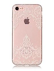 Pour iPhone X iPhone 8 Etuis coque IMD Transparente Motif Coque Arrière Coque Impression de dentelle Flexible PUT pour Apple iPhone X