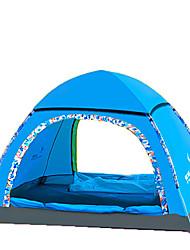 3-4 personnes Abri et Toile Unique Tente automatique Une pièce Tente de camping Fibre de verre OxfordEtanche Pare-vent Résistant aux