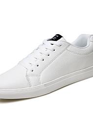 Men's Sneakers Spring Fall Comfort PU Casual Dark Blue Black White Walking