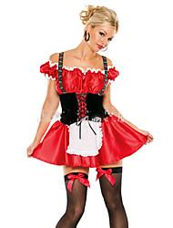 Costumes de Cosplay Fête d'Octobre/Bière Fête / Célébration Déguisement d'Halloween Couleur unie Robe Halloween Fête d'Octobre Féminin
