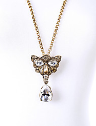 Women's Pendant Necklaces Crystal Chrome Animal Design Cute Style Euramerican Personalized Gold Jewelry For Wedding Party Congratulations