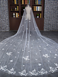 Véus de Noiva Uma Camada Véu Catedral Renda
