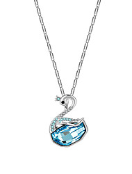 lureme®  LadyColour Legolas Heart Bermuda Blue Heart Pendant Necklace Made With Crystals