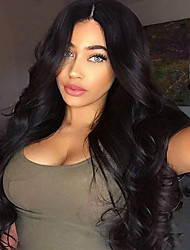 New Fashion High Quality Black Long Wavy Synthetic Wigs Cheap Price Hot Sale.