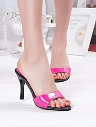 Damen-High Heels-Lässig-PUClub-Schuhe-Weiß Schwarz Fuchsia