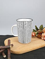 Minimalisme Soirée Articles pour boire, 340 ml Motif géométrique simple Réutilisable porcelaine Thé CaféVerres & Tasses Pour Usage
