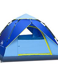 徽羚羊 3-4 persons Tent Single Automatic Tent One Room Camping Tent Fiberglass OxfordWaterproof Breathability Ultraviolet Resistant
