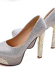 Women's Shoes Leatherette Stiletto Heel Heels Heels Wedding / Office & Career / Party & Evening Black / Blue / Silver