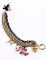 Women's Charm Bracelet Wrap Bracelet Jewelry Friendship Luxury Alloy Geometric Gold Jewelry For Wedding Gift Valentine 1pc