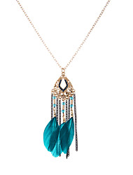 lureme®  Women's Pendant Necklaces Jewelry Geometric Feather Basic Punk Hip-Hop Rock Multi-ways Wear Simple Style Jewelry ForParty Birthday Thank