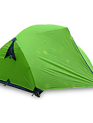 3-4 persons Tent Double Fold Tent One Room Camping Tent >3000mm Fiberglass Oxford Waterproof Portable-Hiking Camping-Green