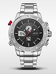 WEIDE Men's Sport Watch Military Watch Japanese Digital Quartz LCD Calendar Water Resistant / Water Proof Dual Time Zones