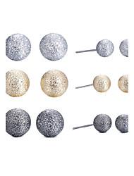 Set de Bijoux Bijoux Circulaire Naturel Amitié Simple Style British Alliage Forme de Cercle Or Boucles d'oreille PourQuotidien