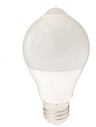 5W E26/E27 Lâmpada Redonda LED SMD 2835 650 lm Branco Sensor AC220 V 1 pç