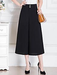 Femme Style Mignon Taille Haute Chino Pantalon,Ample Couleur Pleine