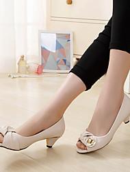 Damen-Sandalen-Lässig-PUKomfort-Schwarz Beige
