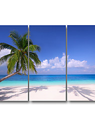 Stretched Canvas Print Three Panels Canvas Wall Decor Home Decoration Abstract Modern Summer Beach