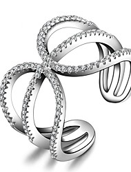 2017 New Fashion Silver Statement Rings AAA Cubic Zirconia Unique Design Jewelry For Women