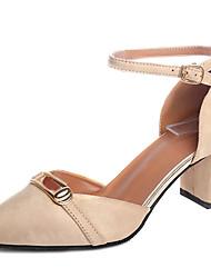 Women's Loafers & Slip-Ons Summer Comfort PU Outdoor Low Heel Buckle Almond Blushing Pink Black Walking