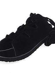 Women's Sandals Comfort PU Spring Casual Comfort Low Heel Black 1in-1 3/4in