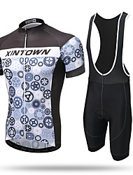 XINTOWN® Mountain Bike Road Bike MTB BMX Racing Outdoor Quick Dry Breathable Cycling Jersey Short Sleeve with Bib Shorts Wheel