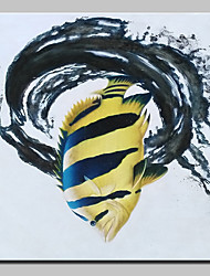 Hand-Painted Modern Abstract Fish Animal Oil Painting On Canvas Wall Art Picture For Home Decoration Ready To Hang
