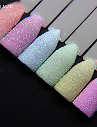 6colors NailMAD Pastel Nail Glitter Set Nail Art Glitter Powder Dust Ultra-fine Glitters Mix