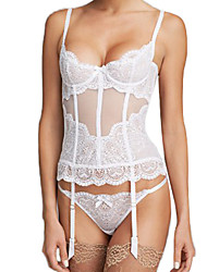 Shaperdiva See Through Mesh Overbust Lace Bridal Corset n Bustier Tops