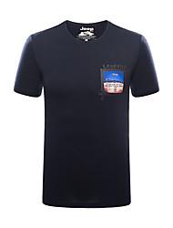 Homme Tee-shirt Pêche Respirable Eté Bleu Blanc