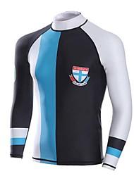 Homens Camisa de Mergulho Respirável Design Anatômico Compressão Filtro Solar Náilon Chinês Fato de Mergulho Manga Comprida Blusas-