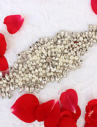 Alloy Wedding Party/ Evening Dailywear Sash-Beading Rhinestone Imitation Pearl Beading Rhinestone Imitation Pearl