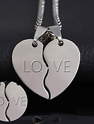 The thickness of 2mm can be processed 316 heart-shaped titanium accessories Korean new couple combo stainless steel pendant