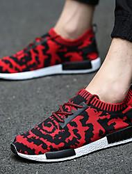 Herren-Sneakers Komfort Stoff athletisch blau rot schwarz
