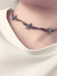 Women's Choker Necklaces Jewelry Animal Shape Acrylic Alloy Basic Acrylic Euramerican Fashion Personalized Simple Style Silver Gold