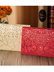 Top Fold Wedding Invitations Invitation Cards-50 Piece/Set Flora Style Hard Card Paper Flower Trims