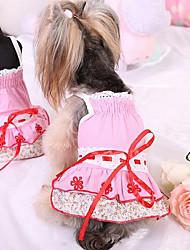 Chien Tee-shirt Vêtements pour Chien Mignon Mode Princesse Bleu Rose
