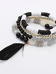 Women's Wrap Bracelet Jewelry Fashion Bohemian Glass Alloy Irregular Jewelry For Party Special Occasion Gift