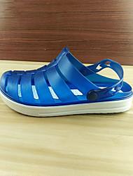 Herren-Loafers & Slip-Ons-Lässig-Gummi-Flacher Absatz-Loch Schuhe-