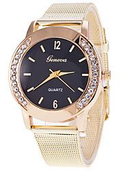 New Fashion Gold Mesh Geneva Quartz Watch Women Metal Stainless Steel Dress Watches Relogio Feminino Gift Clock