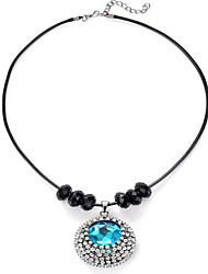 May Polly  Europe temperament jewel studded Necklace short black rope