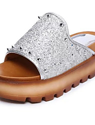 Women's Slippers & Flip-Flops Spring Comfort PU Casual Creepers Rivet